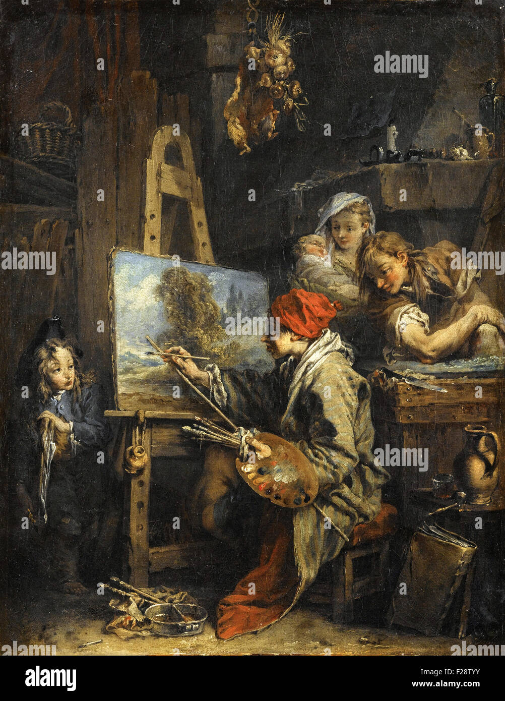 François Boucher -  Le Peintre de Paysage - Stock Image