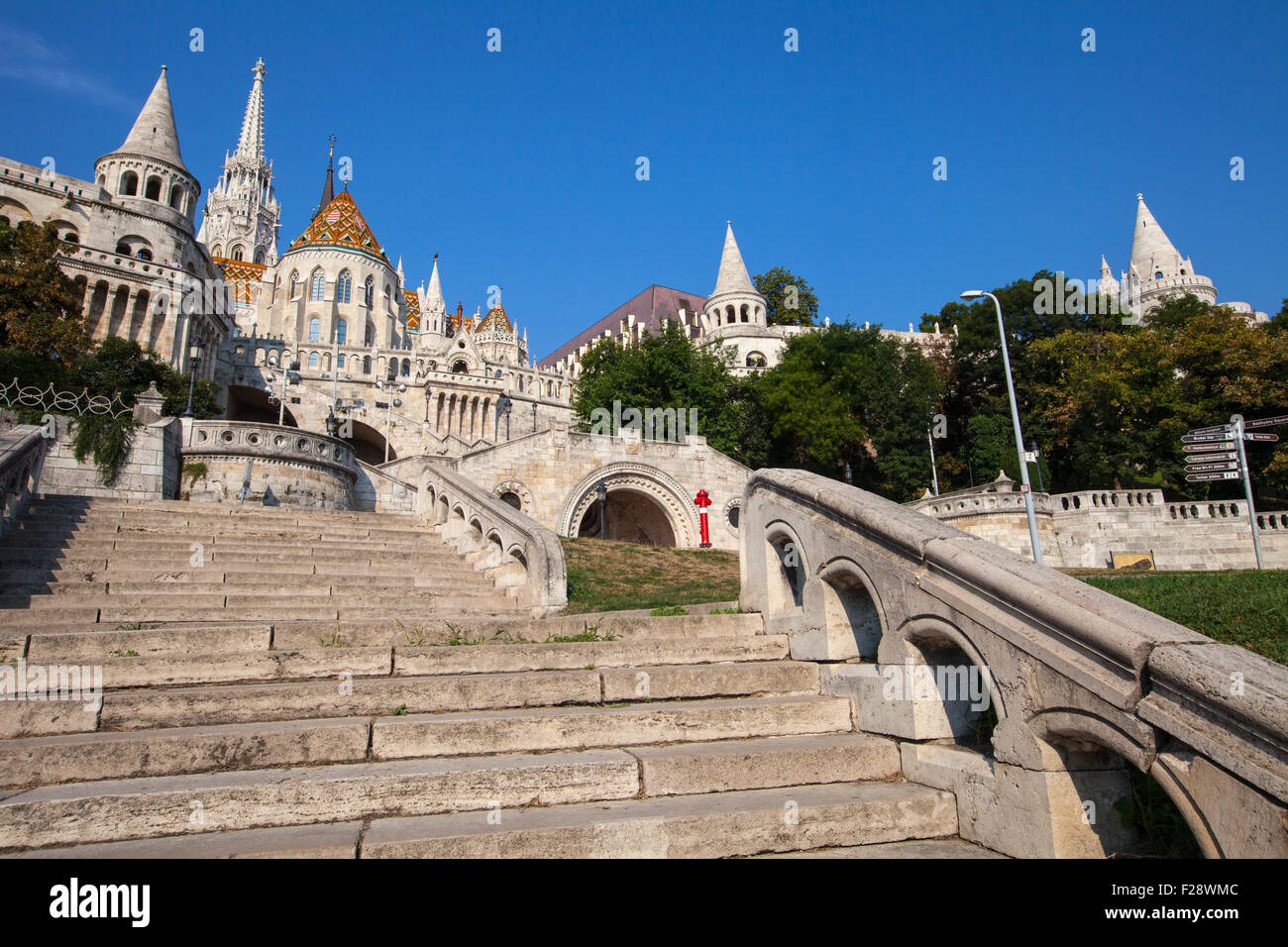 The historic Fisherman's Bastion in Budapest, Hungary. - Stock Image