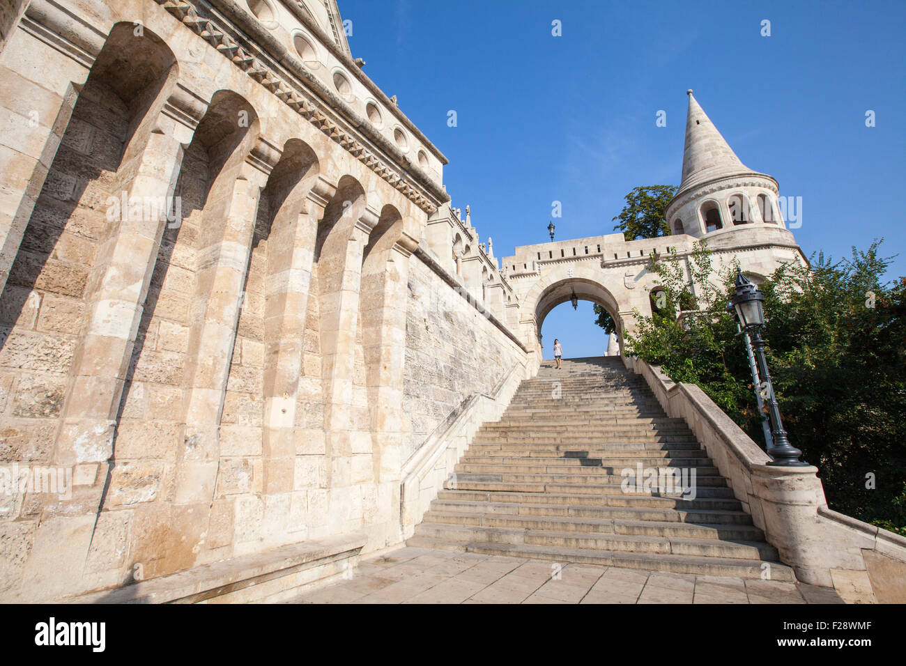 The magnificent Fisherman's Bastion in Budapest, Hungary. Stock Photo