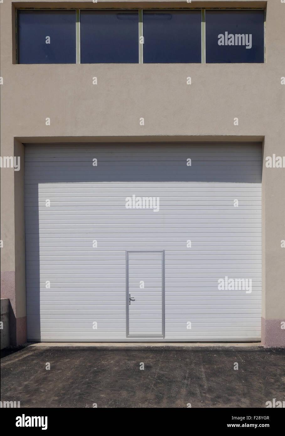 Modern metal door and window. - Stock Image
