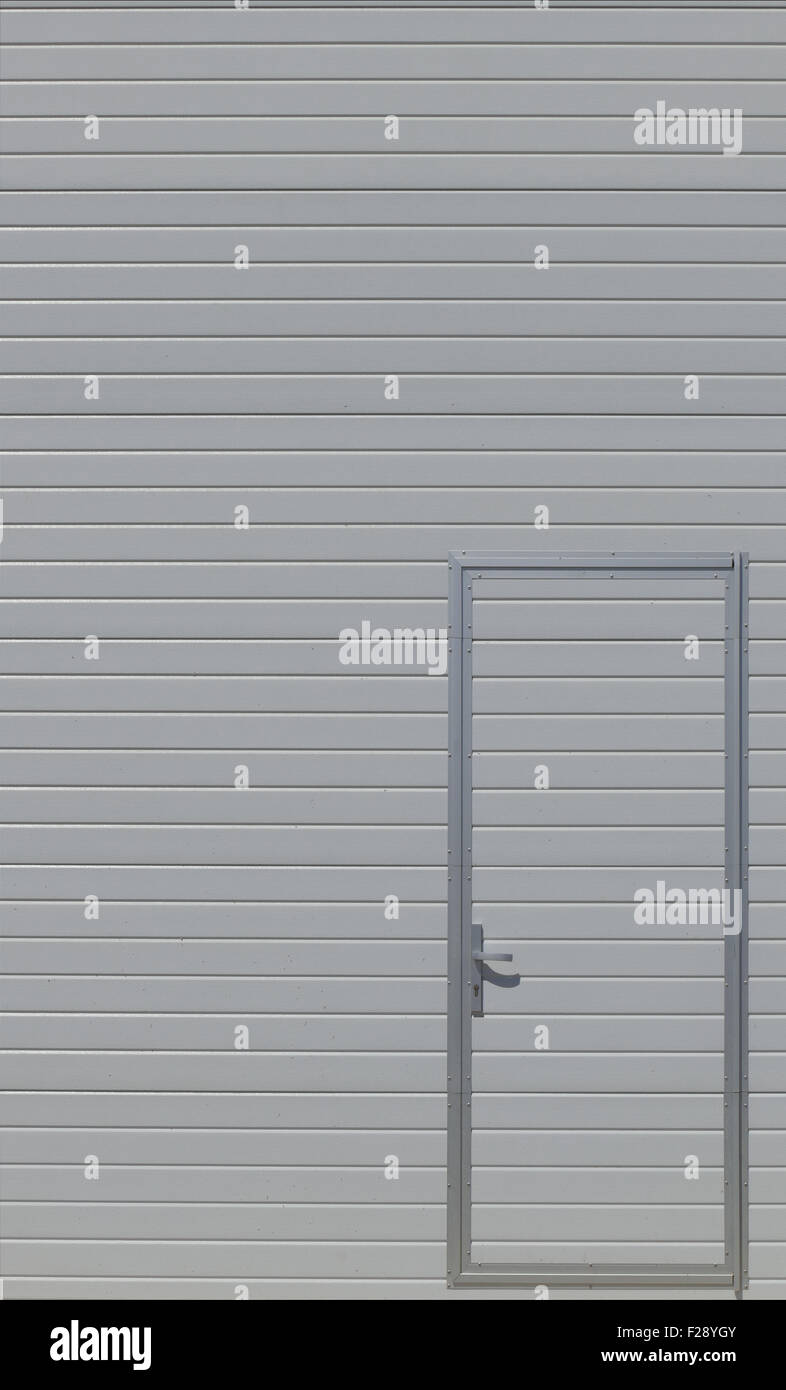 Modern metal door. - Stock Image