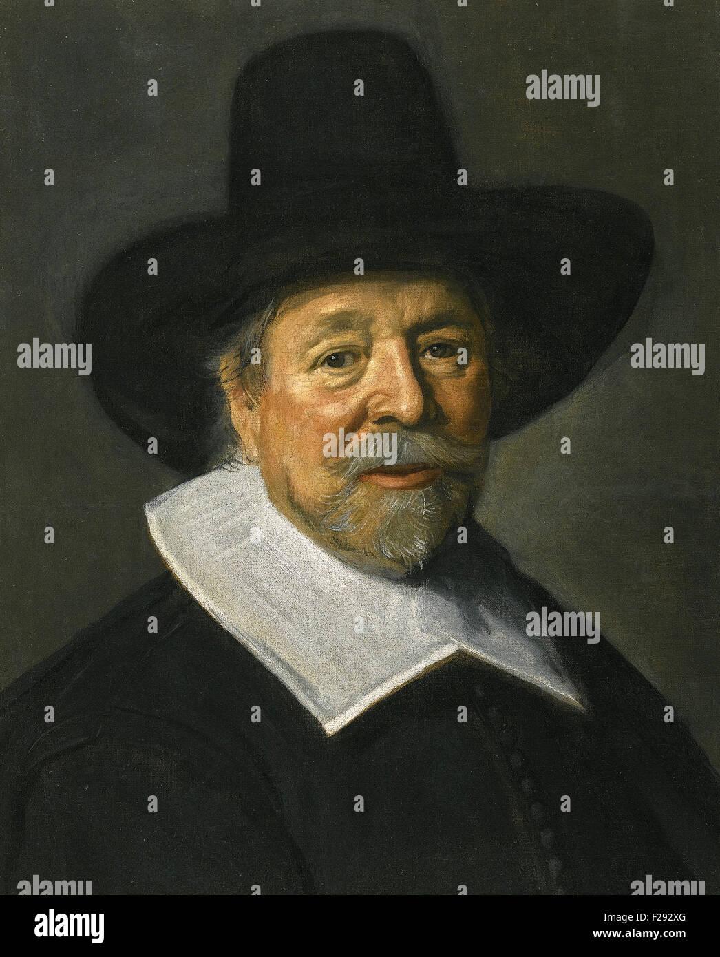 Frans Hals - Portrait of a gentleman, probably the Reverend John Livingstone Stock Photo