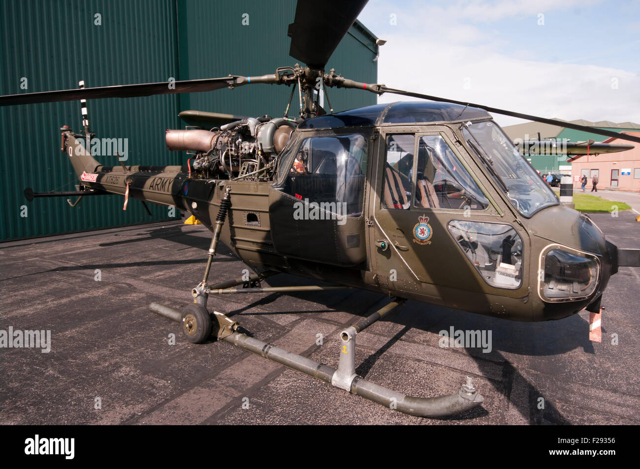 British Army Westland Scout AH MK1 Helicopter - Stock Image