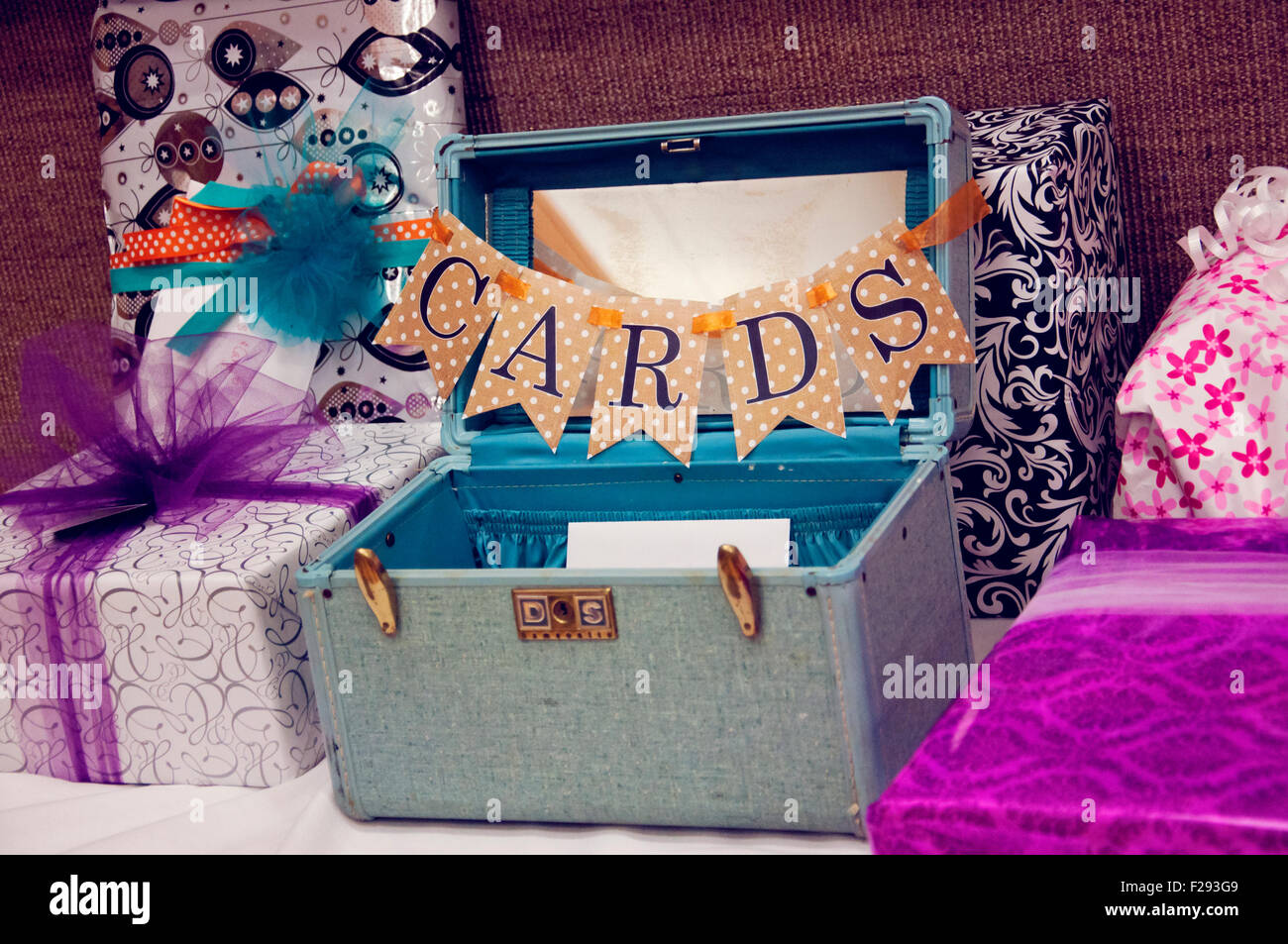 Gifts and Cards box - Stock Image