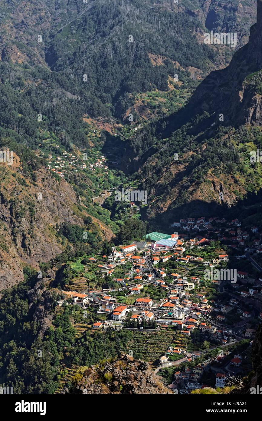 Curral das Freiras - the Nun's Valley, Madeira, Portugal - Stock Image
