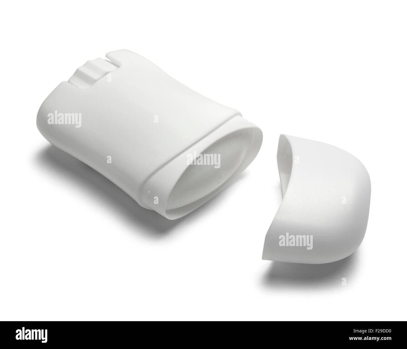Open Roll on Deodorant with Copy Space Isolated on White Background. - Stock Image