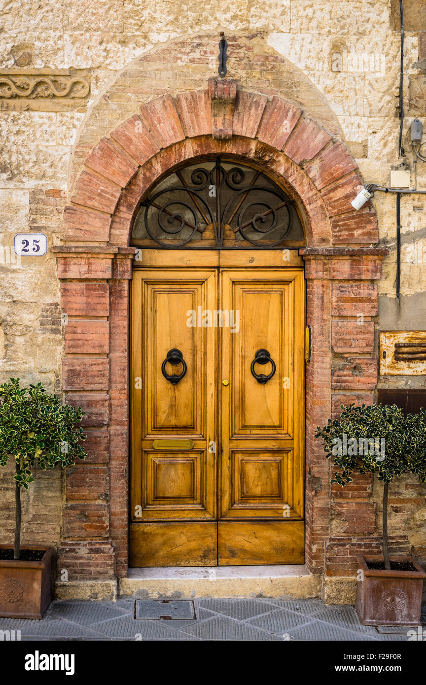 Ancient handmade door in Florence. Tuscany Italy - Stock Image & Green Door Florence Stock Photos u0026 Green Door Florence Stock Images ...
