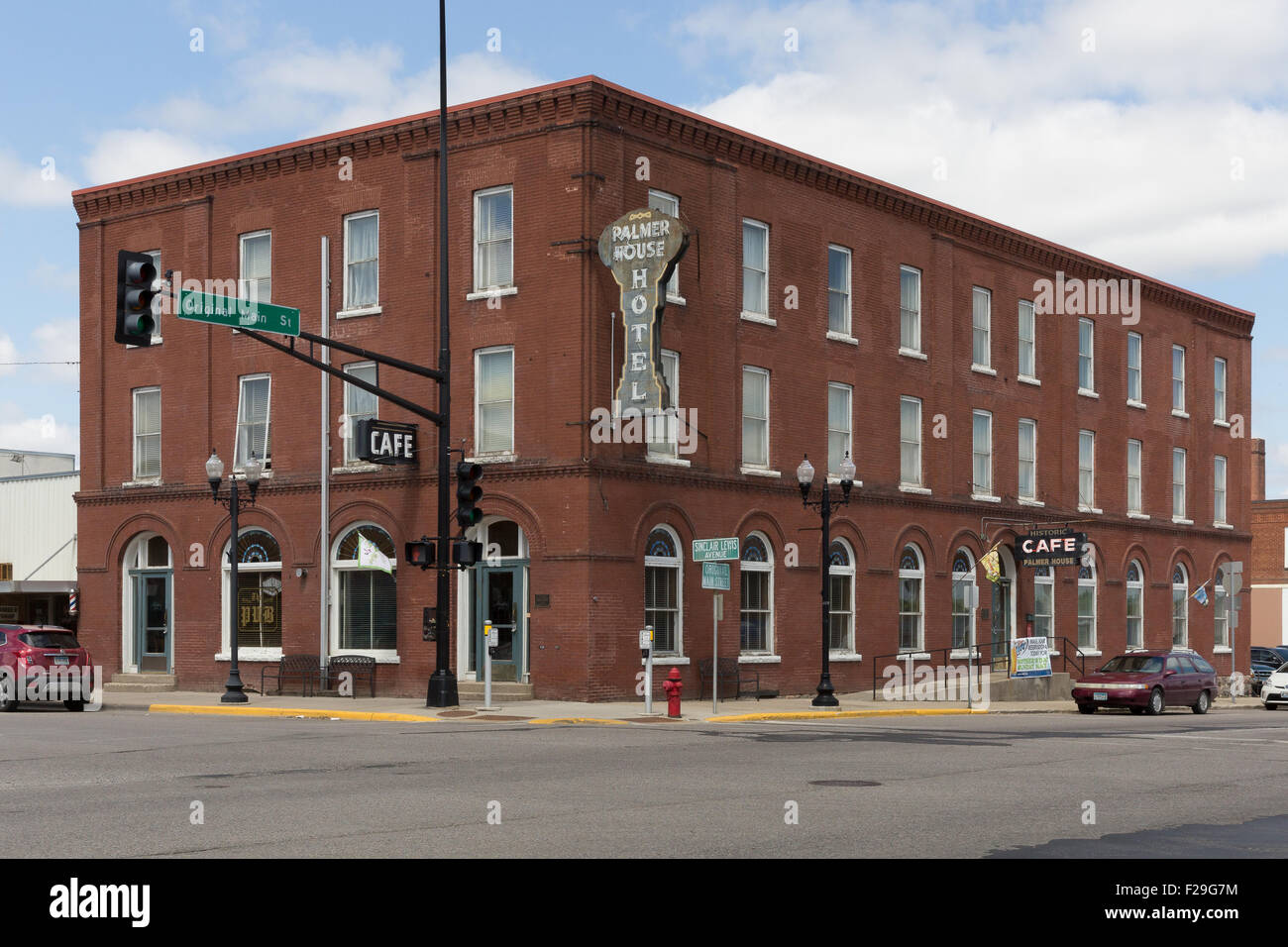 Historic Palmer House Hotel and Café in Sauk Centre, Minnesota - Stock Image