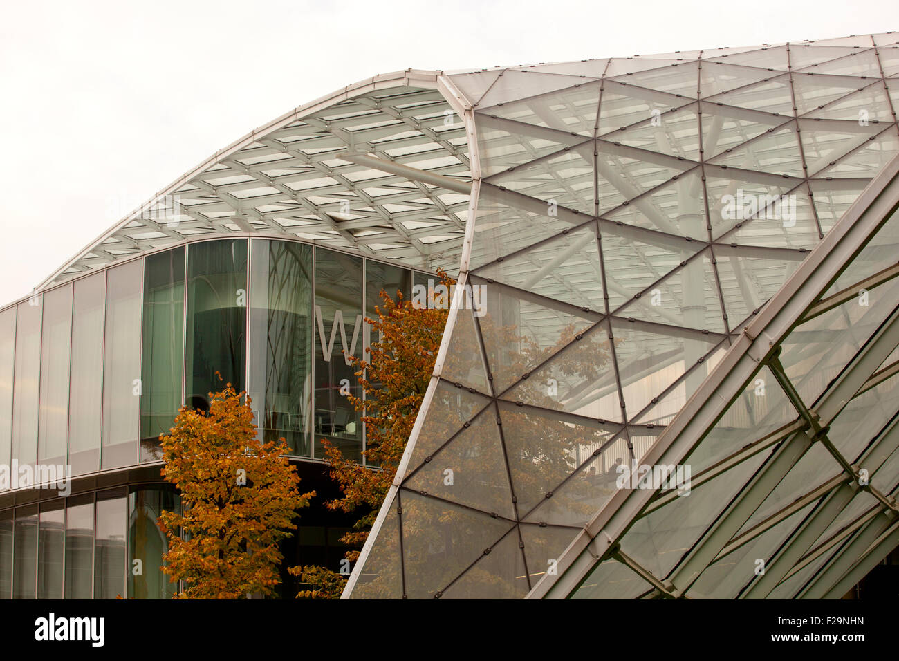 Metal and glass canopy, Fiera di Milano - Stock Image