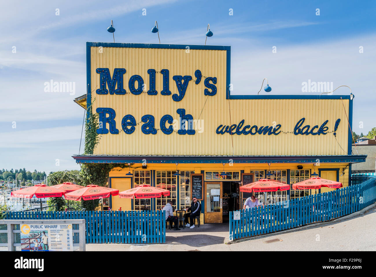 Molly's Reach, famous cafe from the Beachcombers tv series,  Gibsons Landing, Sunshine Coast, ,British Columbia, - Stock Image
