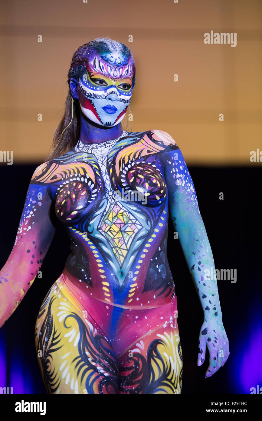 girl in body paint - Stock Image