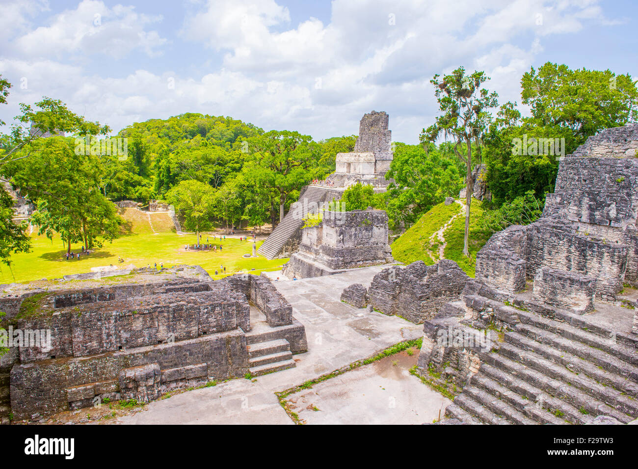 The archaeological site of the pre-Columbian Maya civilization in Tikal National Park , Guatemala - Stock Image