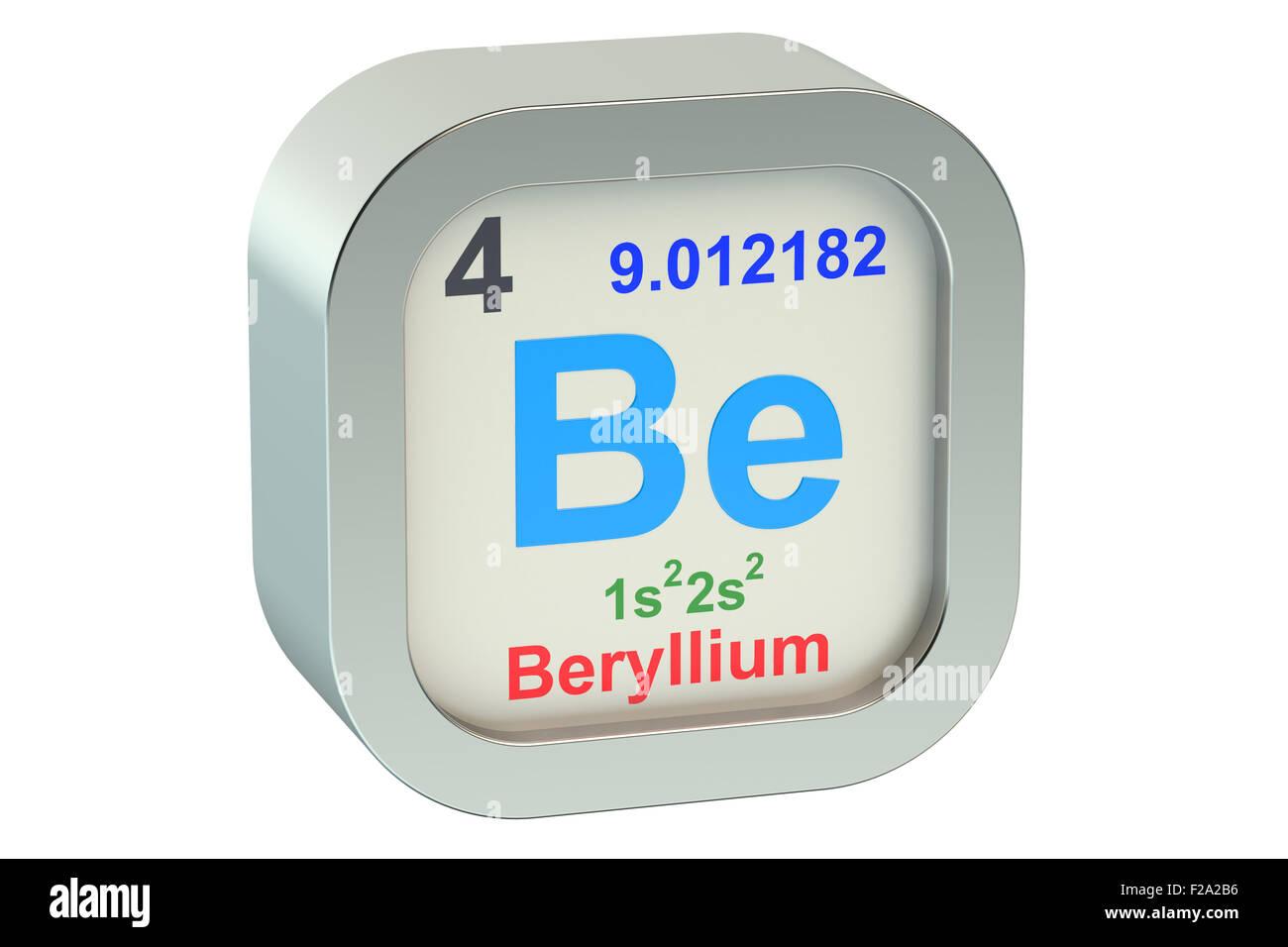 Beryllium Chemical Element Periodic Table Stock Photos Beryllium