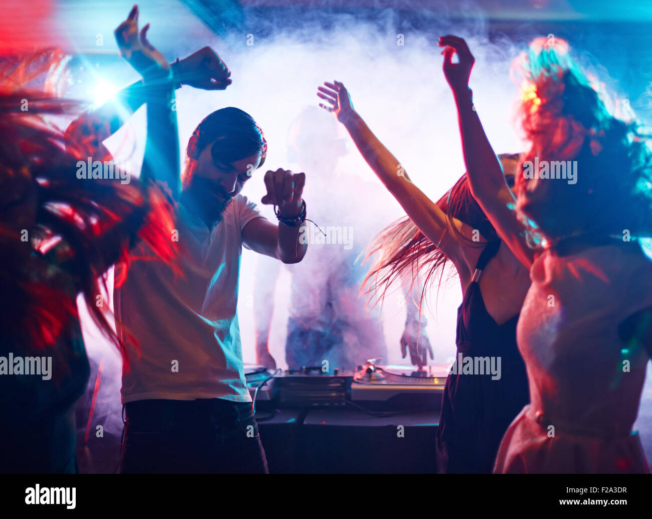 Dancing friends - Stock Image