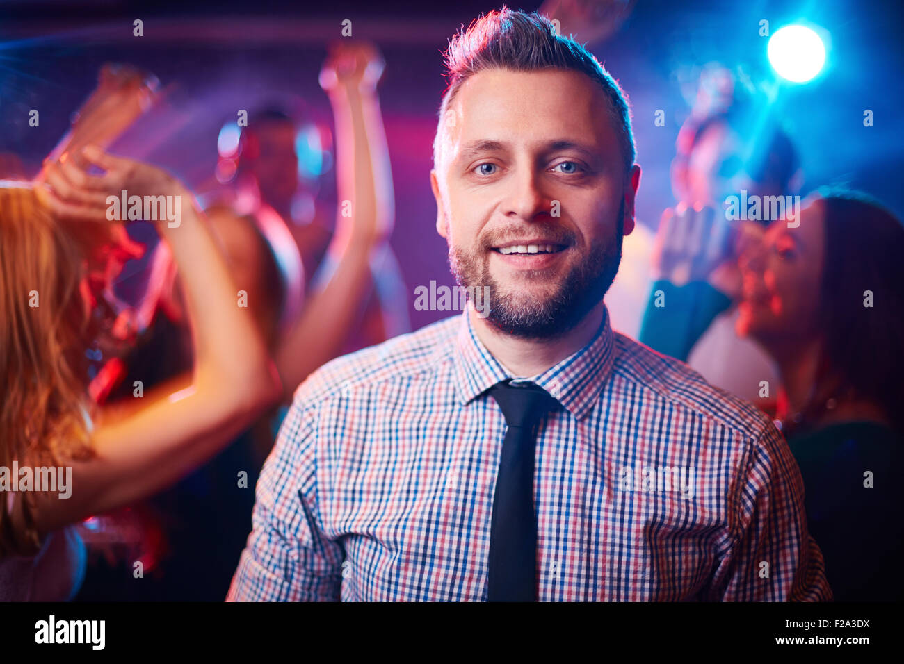 Man at party - Stock Image