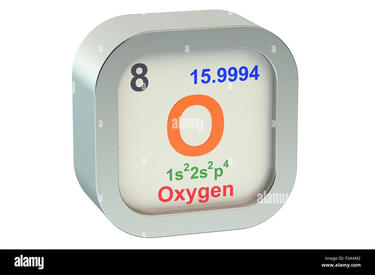 Oxygen Element Isolated On White Background Stock Photo 87504370