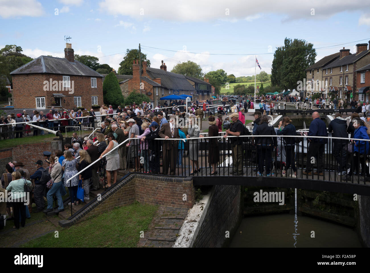 Village at War' event at Stoke Bruerne, Northamptonshire UK - Stock Image