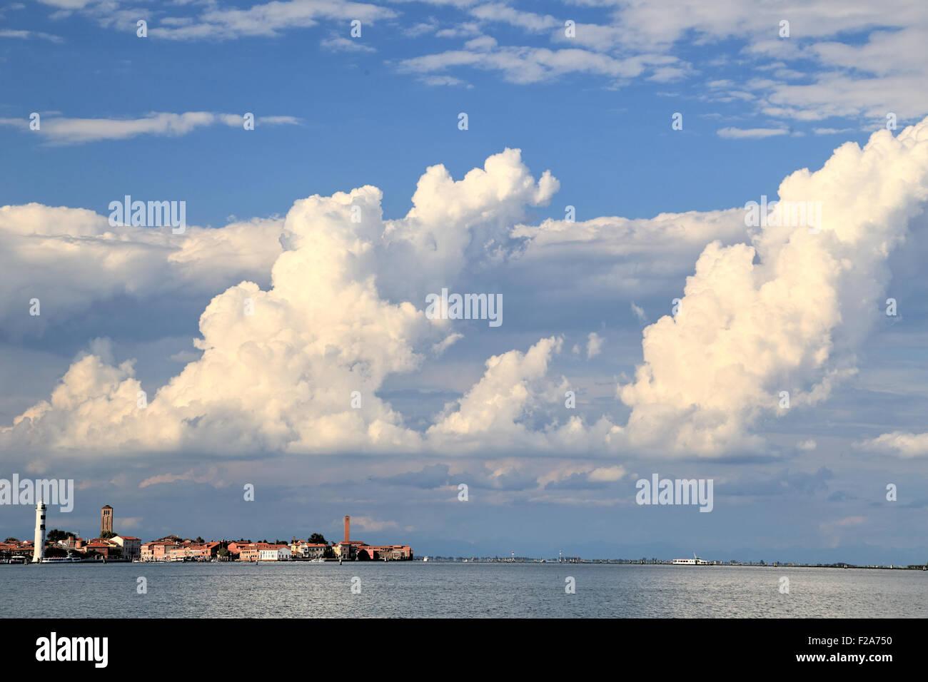 Cloud formation, Murano island (Isola di Murano), Venice - Stock Image