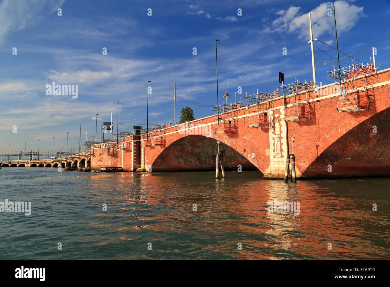 Ponte della Libertà - Venice Railway Bridge (1933) - Stock Image