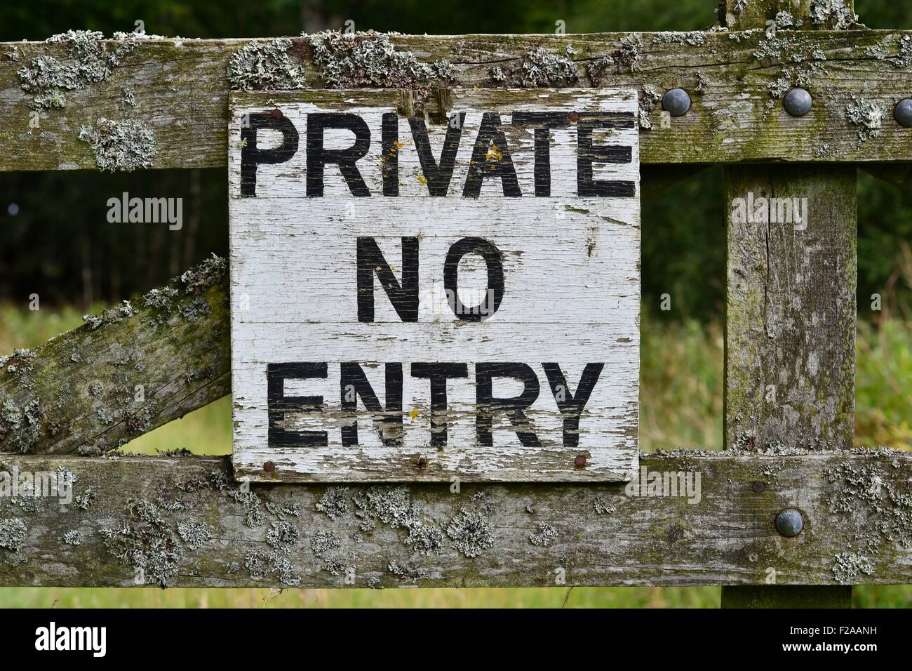 Private No Entry Sign in the countryside - Stock Image