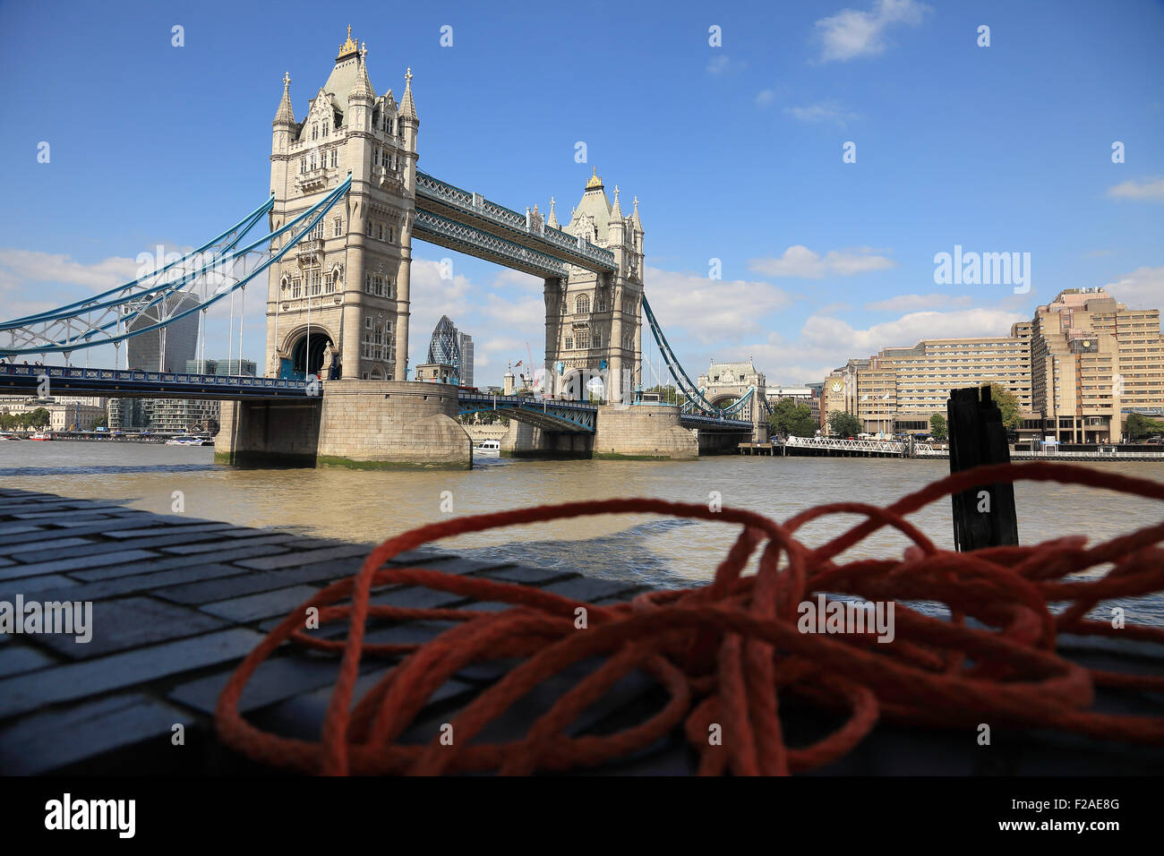 The Famous Tower Bridge On River Thames In London England