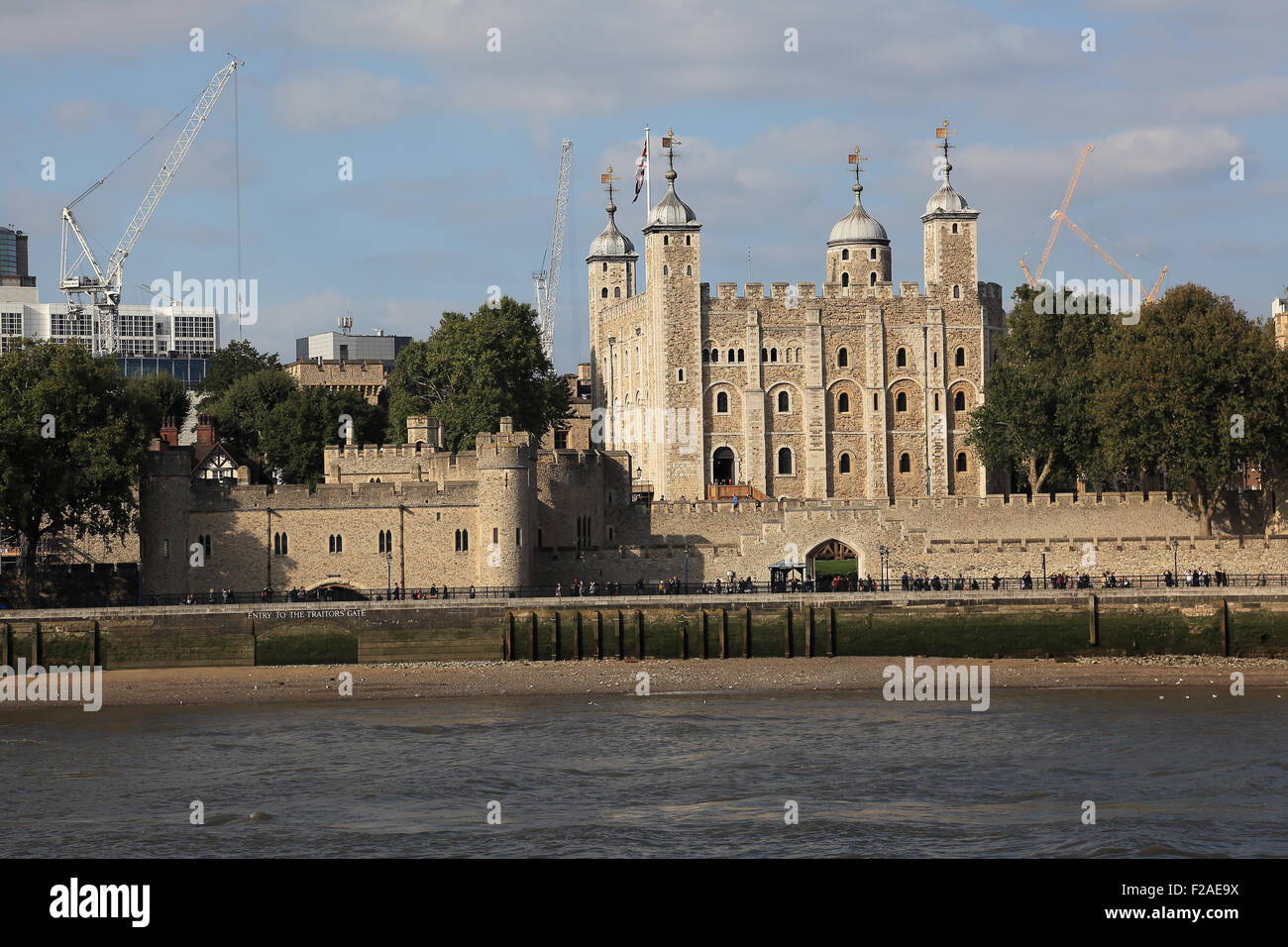 Tower of London and the Thames river, London, England - Stock Image