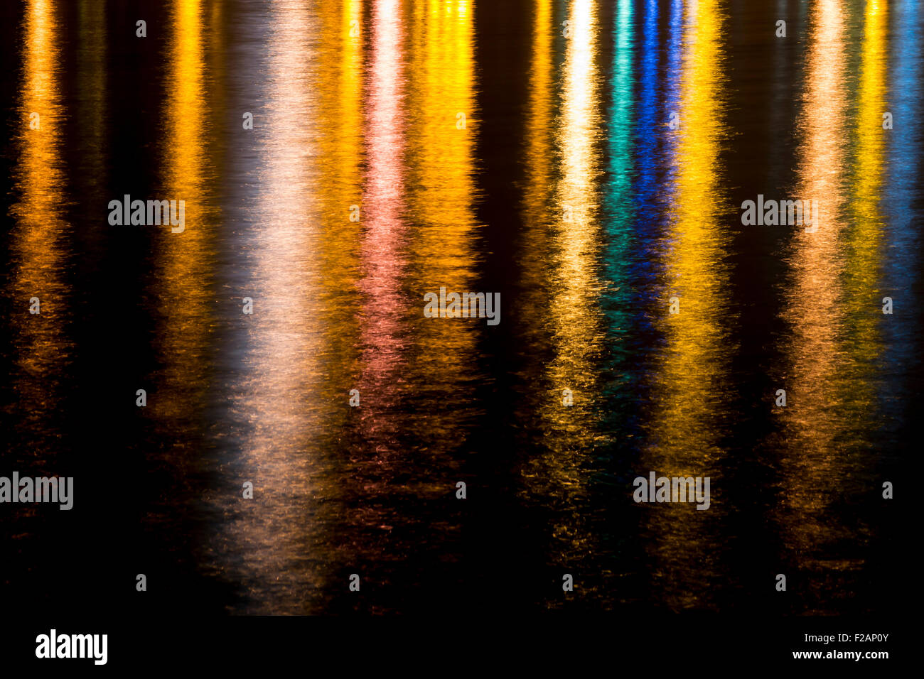 light reflections on the water - Stock Image