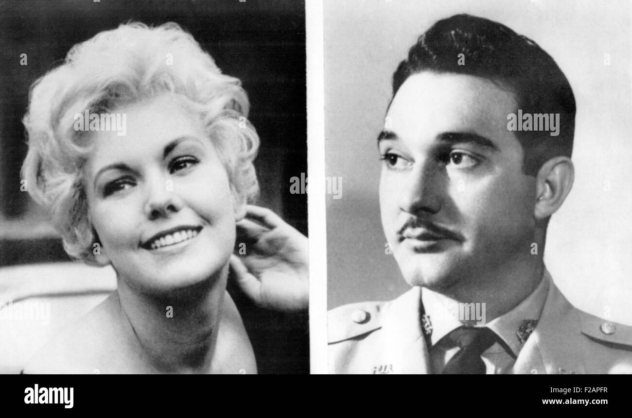 Rumors of romance were flying in Hollywood about Rafael Trujillo Jr. and actress Kim Novak. May 21, 1958. 29-year - Stock Image