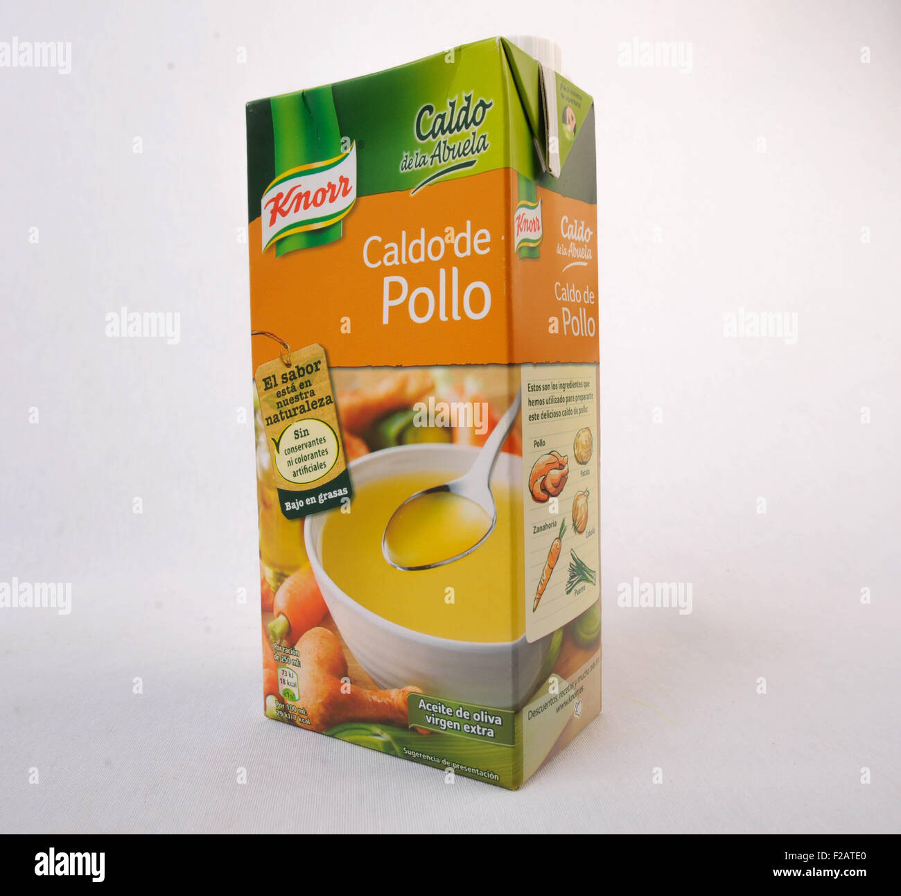 Chicken soup Knorr-Caldo de Pollo Knorr Stock Photo