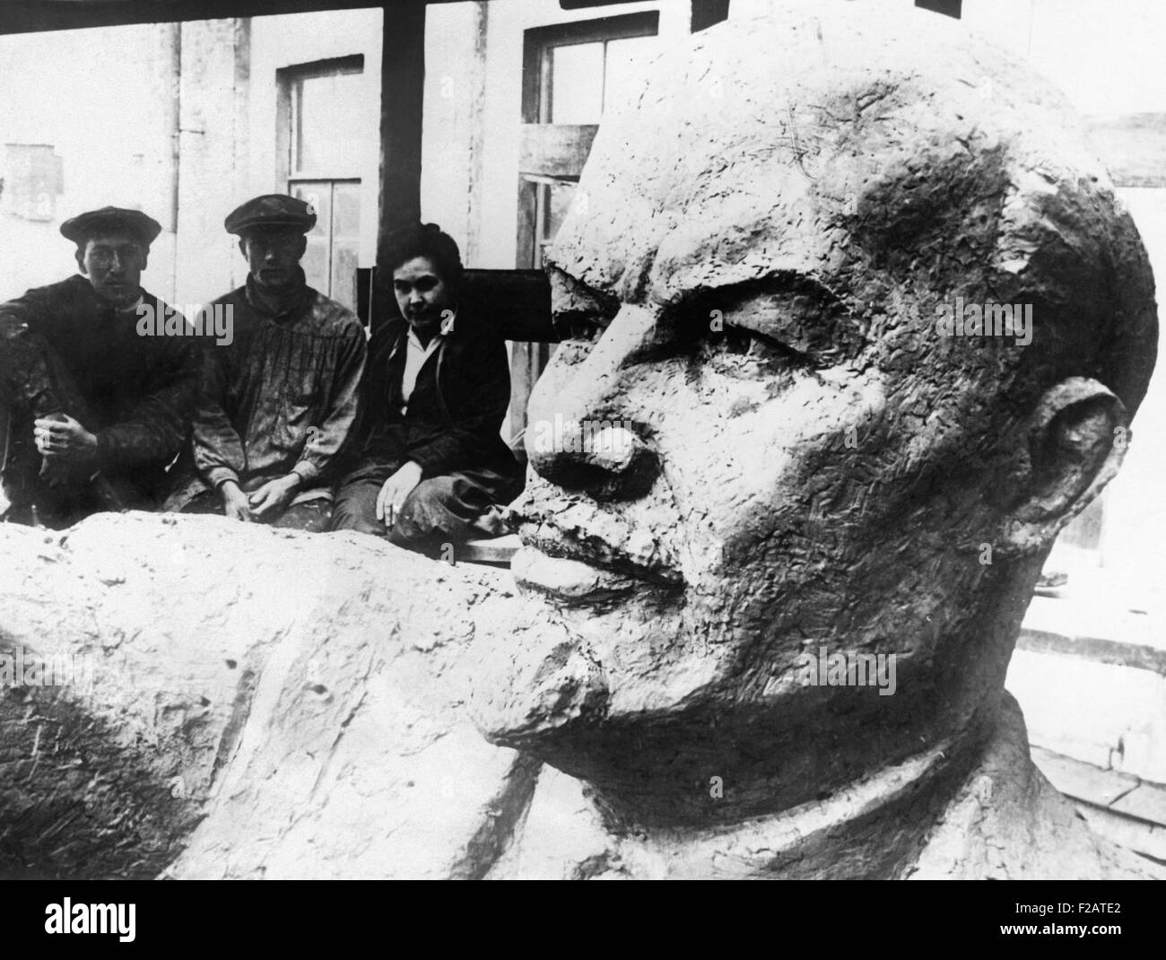 Colossal statue of Lenin, leader of the Bolshevik Revolution was unveiled in Moscow. Jan. 21, 1929. It was part - Stock Image