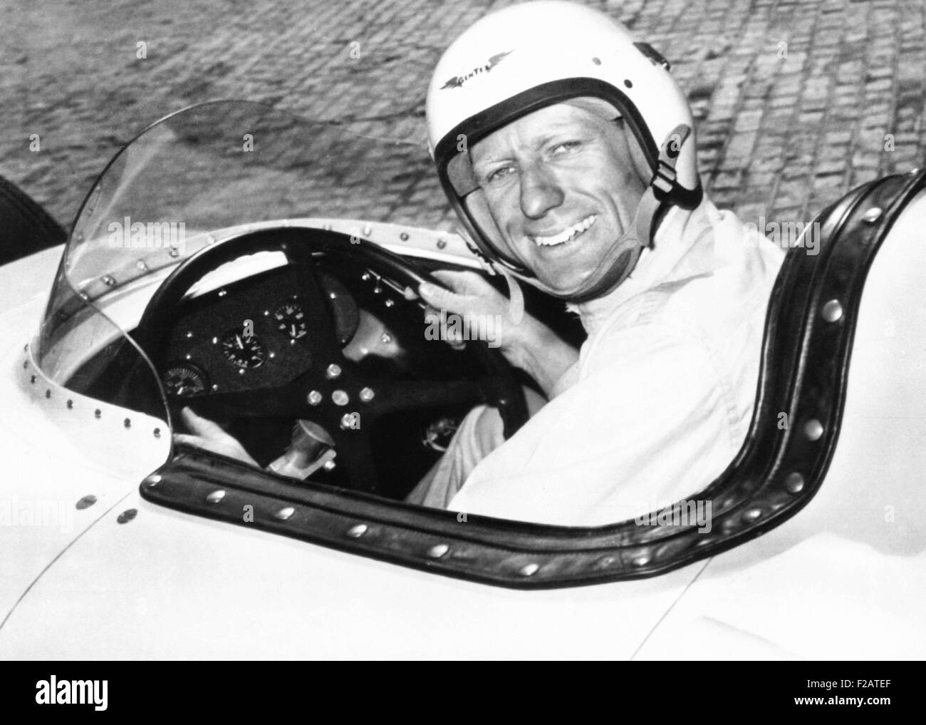 Jack McGrath was the fastest qualifier, for the 1955 Indianapolis 500. During the race on May 30, 1955 his engine - Stock Image