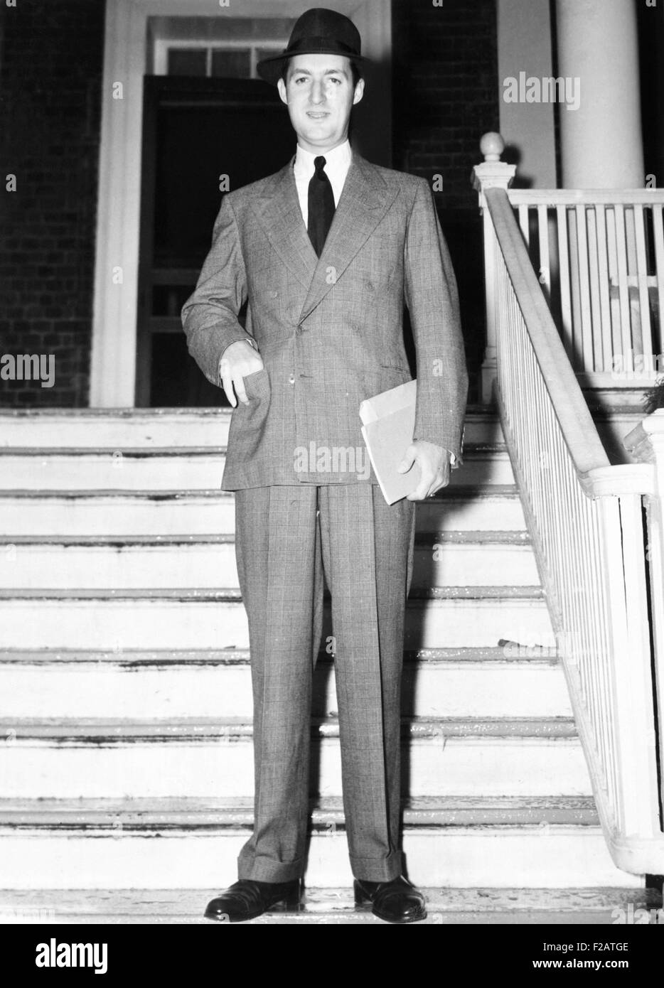 Paul Mellon while attending classes at St. John's College, Annapolis. Sept. 25, 1940. He graduated from Yale, - Stock Image