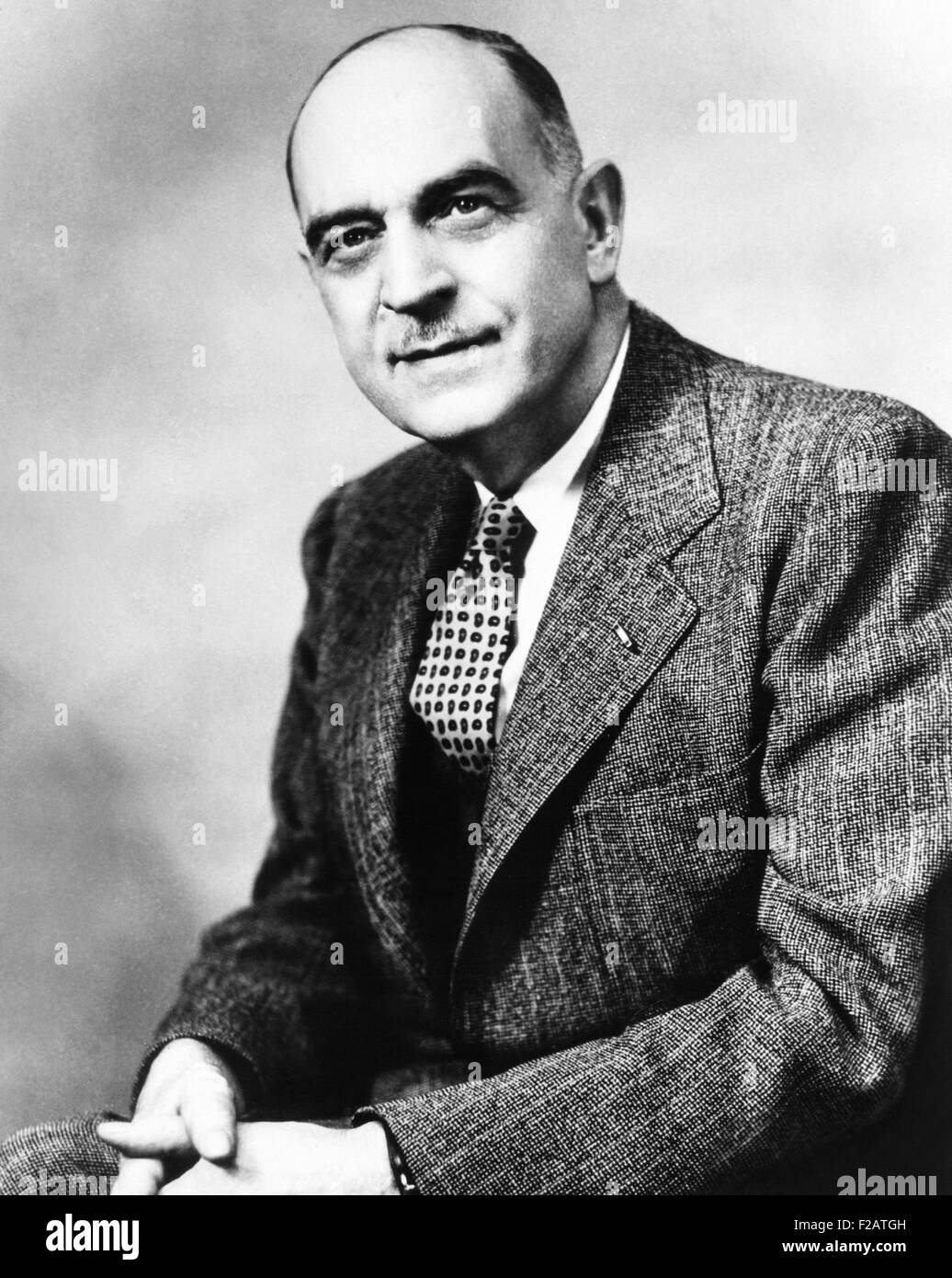 William Claire Menninger, President and Co-founder of the famed psychiatric clinic. 1956. His classification of - Stock Image