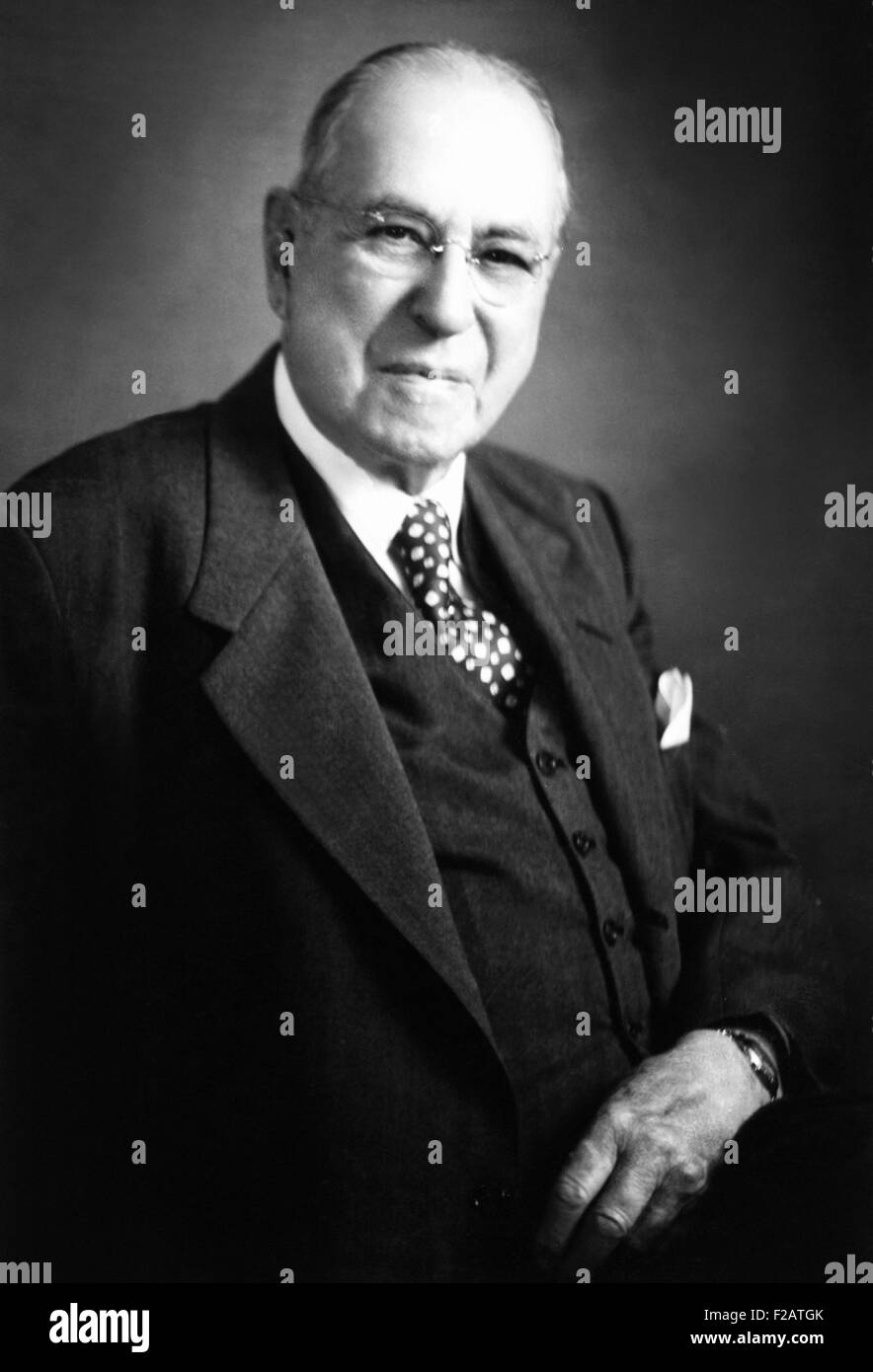 Dr. Charles Frederick Menninger. Founder of the Menninger Clinic in Topeka Kansas. Ca. 1935. He was the father of - Stock Image