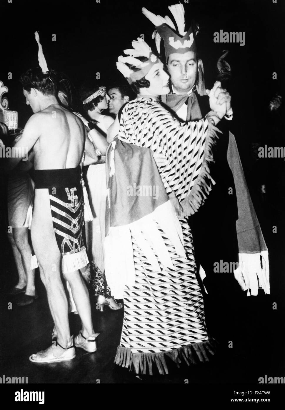 Helen Wills Moody and her husband Frederick dancing at the Annual Artists Papilia and Ball. San Francisco, Dec.12, - Stock Image