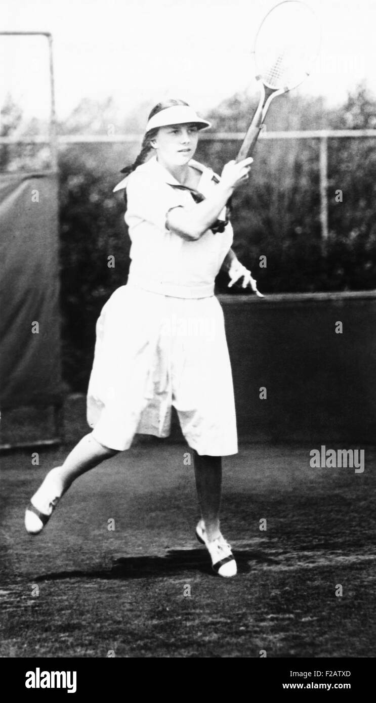 Helen Wills, champion tennis player in 1921. Wills was the U.S. Girls' Singles champion in 1921 and 1922. (CSU - Stock Image