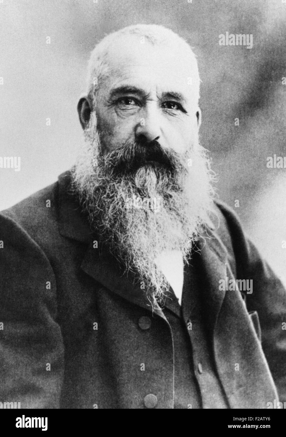 Claude Monet in 1901 in the Giverny. Photograph by Gaspard Felix Nadar. The 60 year old impressionist painter would - Stock Image