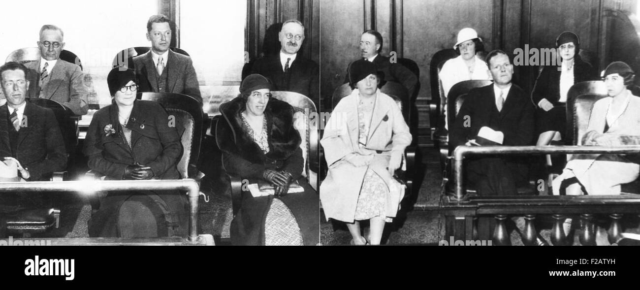1933 Jury that acquitted Tom Mooney of the charge of murder of Arthur Nelson. Nelson was one of the 10 people killed - Stock Image