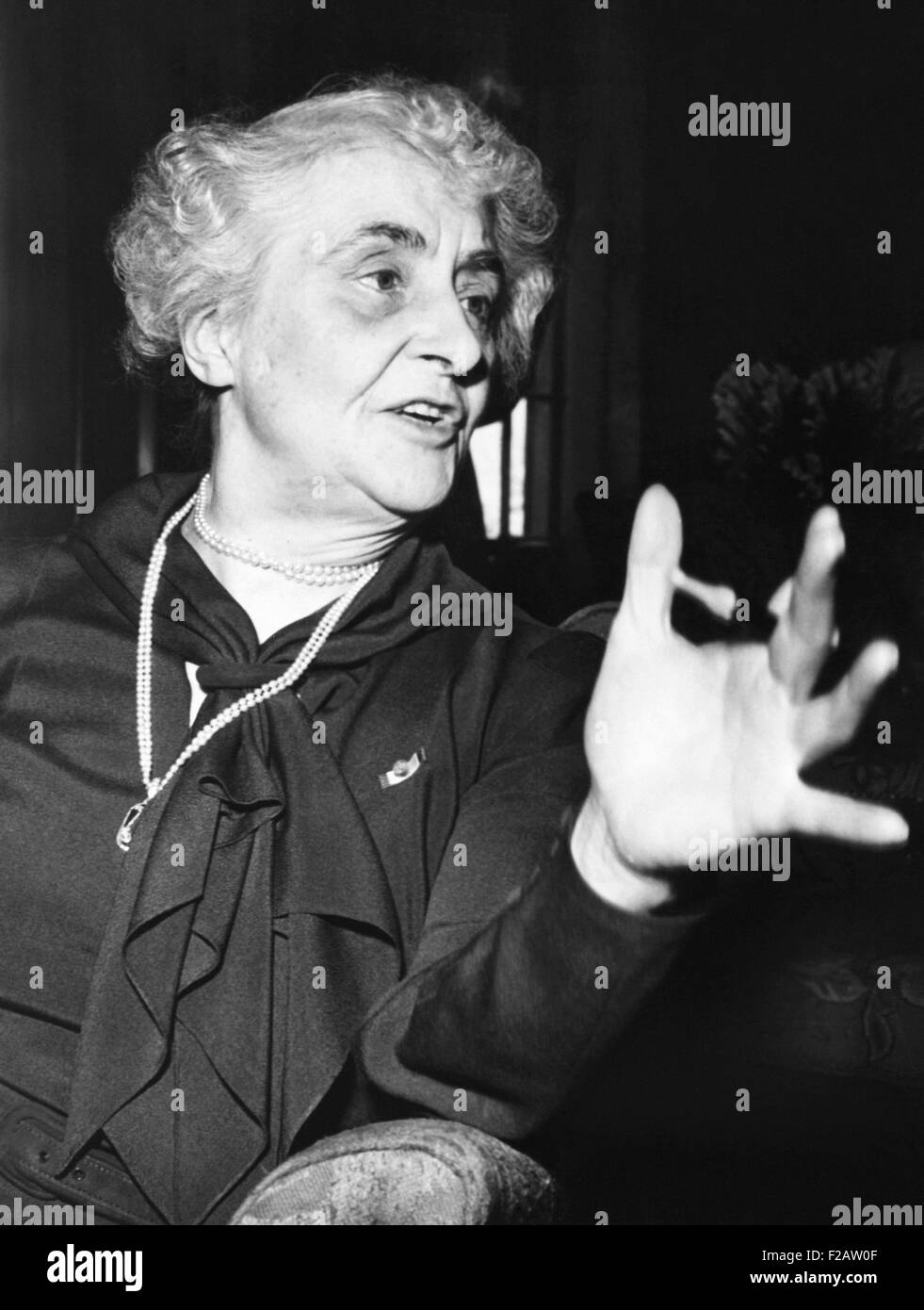 Anne Tracy Morgan was head of the Committee for Civilian Help in France in 1940. She repeated her World War 1 philanthropy - Stock Image