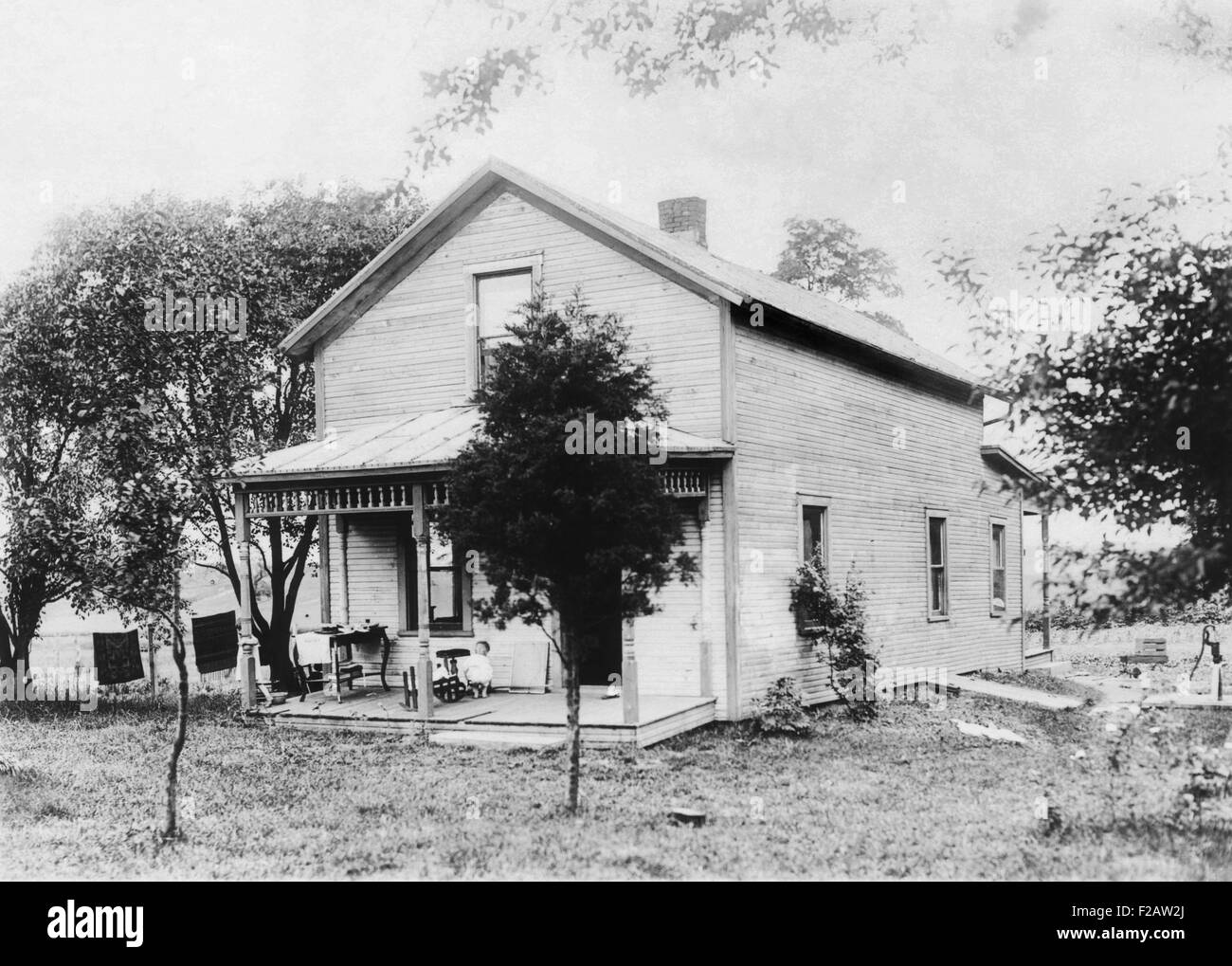 President Warren Harding's birthplace in Blooming Grove, Ohio. Ca. 1880. (CSU_2015_11_1471) - Stock Image