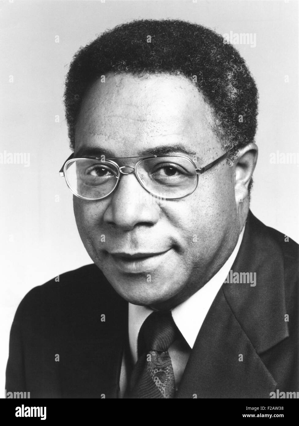 Alex Haley was the author of 'ROOTS, SAGA OF AN AMERICAN FAMILY.' In 1977 ABC adapted ROOTS into a television - Stock Image