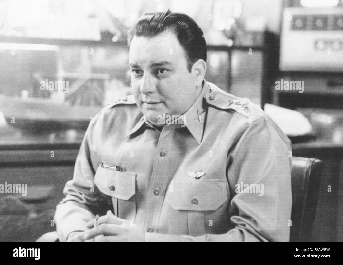 General Anastasio Somoza Debayle, Commander in Chief of Nicaraguan Armed Forces. June 4, 1959. Anastasio and his - Stock Image