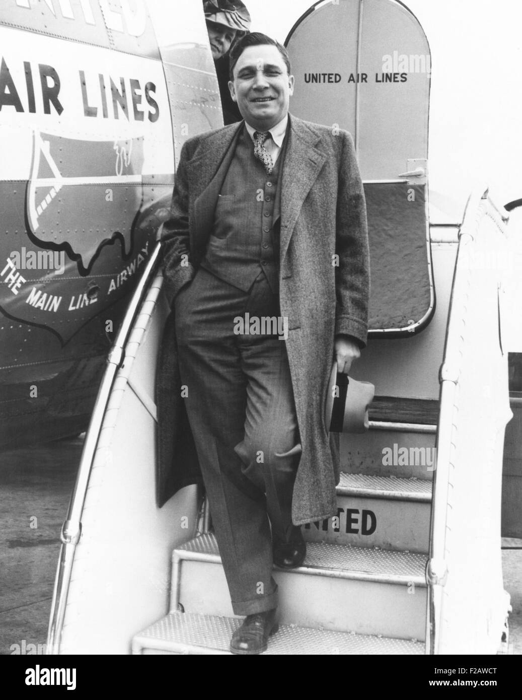 Wendell Willkie modernized his 1940 campaign by chartering a United Airlines DC-3 plane. July-Sept. 1940. (CSU_2015 - Stock Image