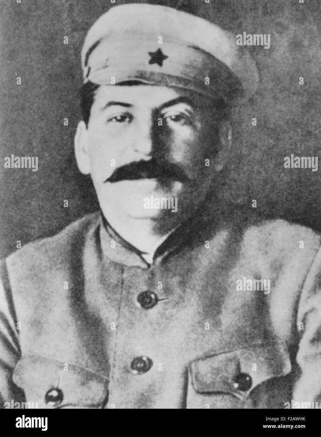 Josef Stalin in the uniform of the Red Army, ca. 1920. (CSU_2015_11_1371) - Stock Image