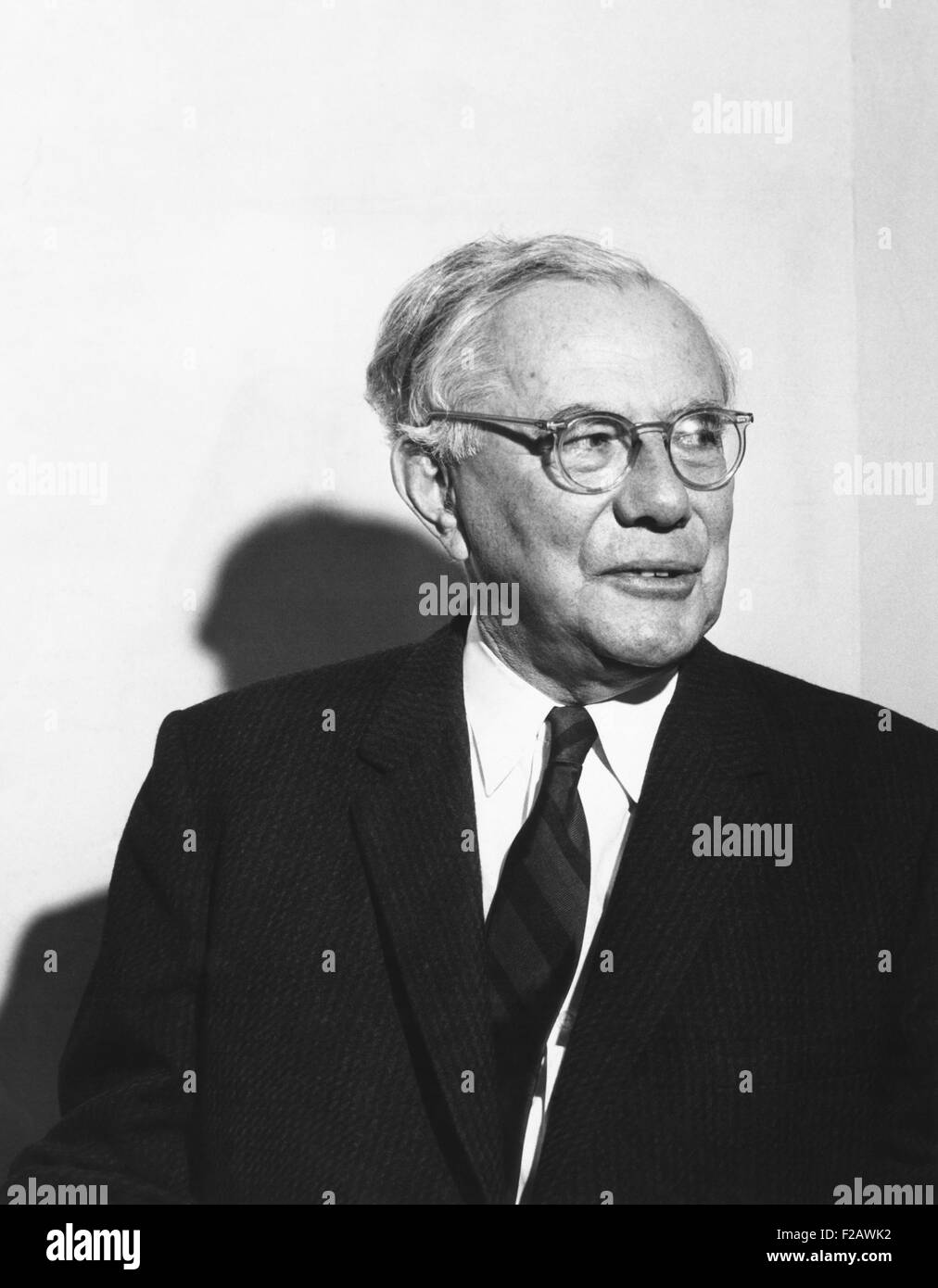 Dr. Paul J. Tillich, German American Christian existentialist philosopher and theologian. October 1969 portrait - Stock Image