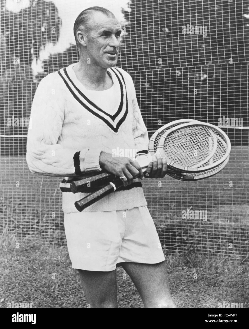 Bill Tilden, former Tennis Champion, ca. 1951. He was isolated from former friends and associates after his two - Stock Image