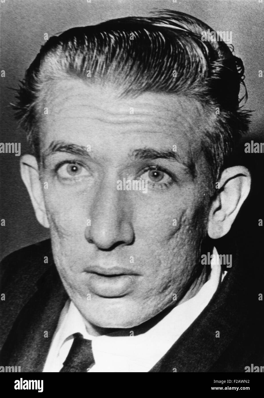 Richard Speck, 24, accused slayer of eight student nurses, in Chicago court room. August 18, 1966. (CSU_2015_11 - Stock Image