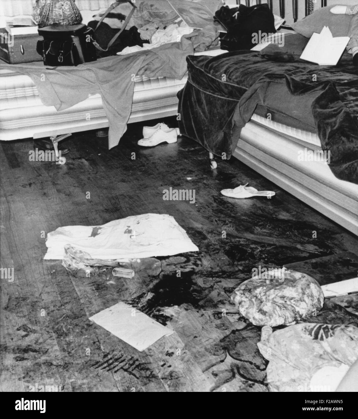 Bloody crime scene in the apartment where Richard Speck murdered eight student nurses. Chicago, July 14, 1966. (CSU - Stock Image