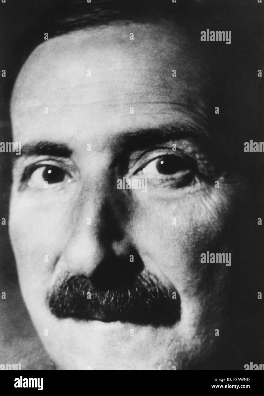 Stephen Zweig, Jewish Austrian writer, was international popular in the 1920s and 1930s. Two of his books were made - Stock Image