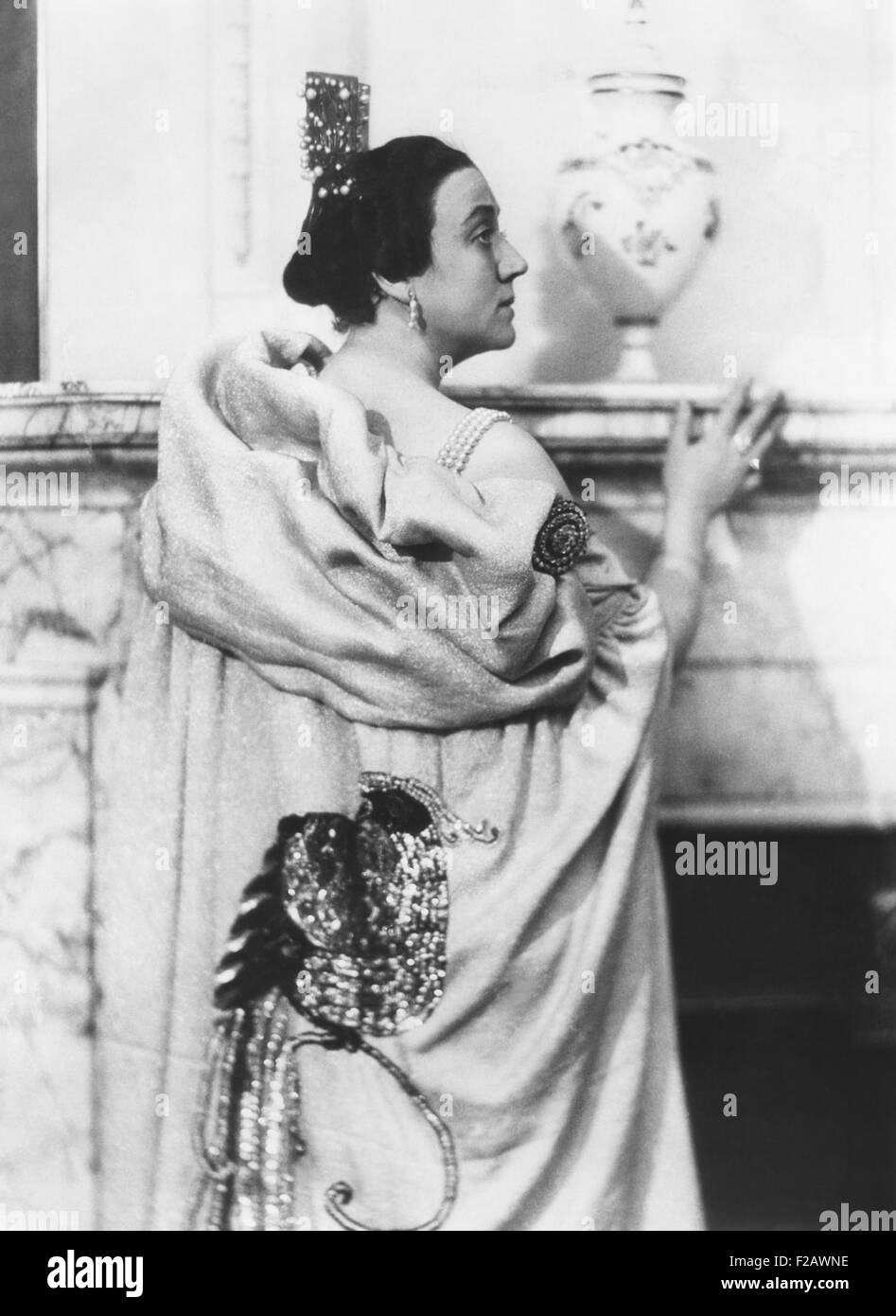 Naima Wifstrand, Swedish operetta singer, from 1905 into the 1940s. Instead of retiring, she began an second career Stock Photo